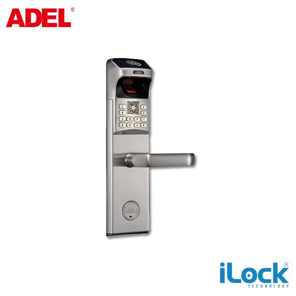khóa cửa vân tay adel 4930 màu bạc giá rẻ